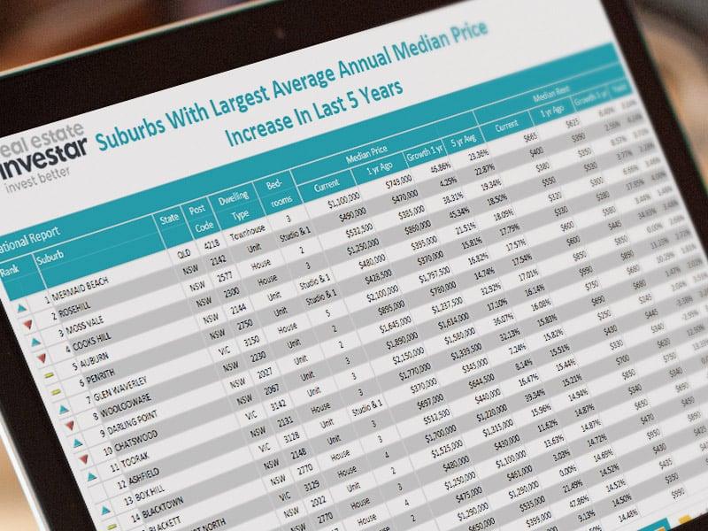 suburb data
